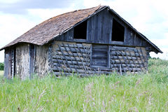 Old Shed. Old abandoned log shed in countryside Stock Photography