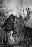 Old Shed bw - Turda Gorge - Cheile Turzii, Transylvania, Romania. Old Shed - Turda Canyon in winter (March) time. Turda Gorge - Cheile Turzii  is 6 km west of Royalty Free Stock Photography