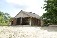 Old shed in the Dominican Republic Royalty Free Stock Photography