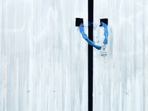 Old shed door with lock Royalty Free Stock Image