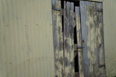 Old shed door Stock Photos