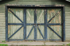 Old Shed Doors Stock Photo