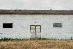Old shed for livestock royalty free stock photography