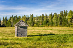 Old Shed in a Meadow Royalty Free Stock Photo