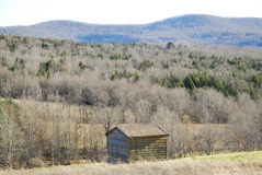 Old Shed in Mountains Royalty Free Stock Photo