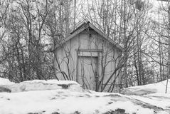 Old Shed. A old shed that is surrounded by trees Stock Image