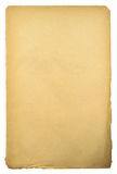 Old sheep of paper. Old sheet of paper isolated on white royalty free stock image
