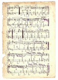 Old sheet. With musical notes Royalty Free Stock Photography