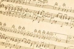 Old Sheet Music Royalty Free Stock Photos