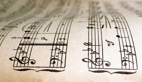 Old sheet music Stock Photos