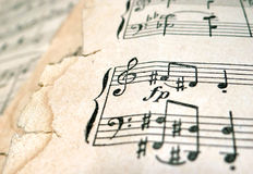 Old sheet music Royalty Free Stock Image