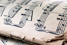 Old sheet music Stock Photos