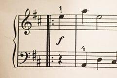 Old sheet music Stock Image