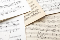 Old sheet music. Textured or background Stock Images