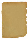 Old sheet of  paper. With the damaged edges on  white background Royalty Free Stock Photography