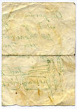 Old sheet of paper Royalty Free Stock Images