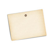 Old sheet of paper. On a white background isolated stock images