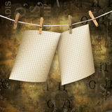 Old sheets hanging on a rope Royalty Free Stock Photos