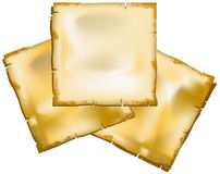 Old sheets of paper Stock Photography