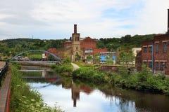 Old Sheffield UK. Sheffield - city in South Yorkshire, UK. River Don footbridge Stock Image
