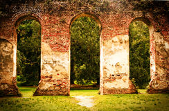 Old Sheldon Church Ruins. In Beaufort SC Stock Photo
