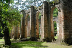 Old Sheldon Church Ruins Stock Images