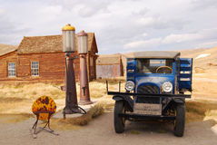 Old Shell Station. This is the old shell station in Bodie Stock Photos