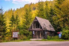 Old shelter in the mountains Stock Image