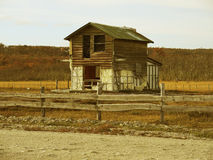 Old shelter in ruins. (sepia vintage Royalty Free Stock Photos