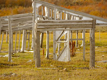 Old shelter in ruins. Old shelter in ruins in Tolhuin, Argentina Royalty Free Stock Images