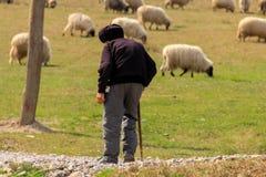 Old shepherd Royalty Free Stock Photos