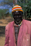 Old shepherd Turkana (Kenya) Royalty Free Stock Image