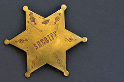 Old Sheriff badge Royalty Free Stock Photos