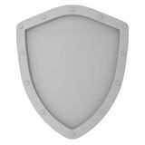 Old Shield isolated on white Stock Photo