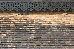 Old shingle roof tiles. In temple Stock Images