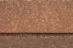 Old shingle roof tiles. In temple Royalty Free Stock Image