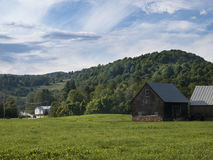 Old Shingled Barn in Vermont Royalty Free Stock Photos