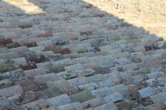 The old shingles on the roof royalty free stock photography