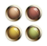 Old shiny buttons Stock Photo