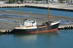 Old Ship. Docked in Puerto Rico Royalty Free Stock Photos