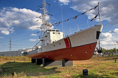 Old ship. The old ship and the landmark of Constanta Royalty Free Stock Photography