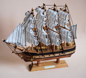 Old ship. Model of the old ship Royalty Free Stock Photos