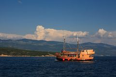 Old ship on Adriatic Royalty Free Stock Photo