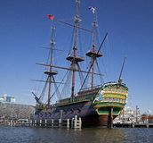 Old ship in Amsterdam Stock Photography
