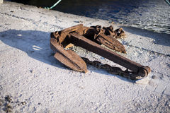 Old ship anchor Stock Photo