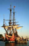 Old ship - Batavia. Batavia – historic galleon from Netherlands. Old ship Royalty Free Stock Photography