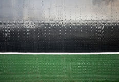 Old ship black and green hull texture Stock Photography