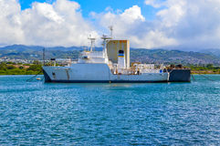Old Ship. Old boat moored in the ship graveyard, Pearl Harbor, Hawaii Stock Photography