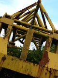 Machinery. Old ship building crane Royalty Free Stock Photo