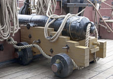 Old ship cannon Stock Images
